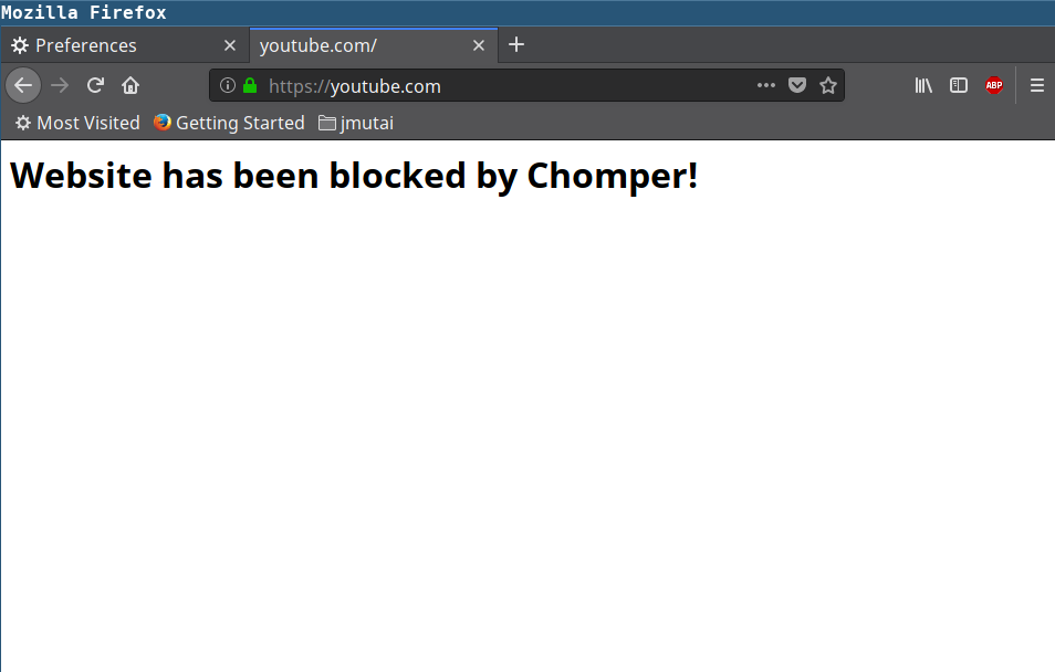 How to install and use Chomper internet blocker