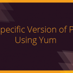 yum install specific packages