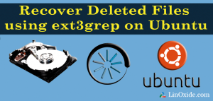 Recover deleted files ext3grep
