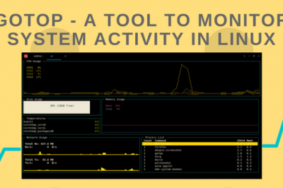 gotop linux monitor tool