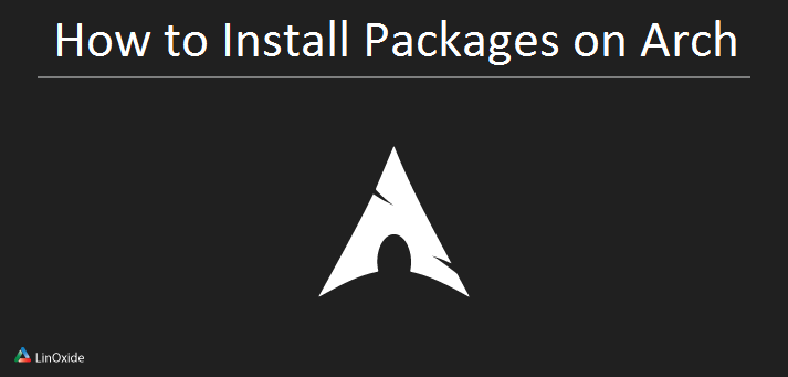 Install packages archlinux
