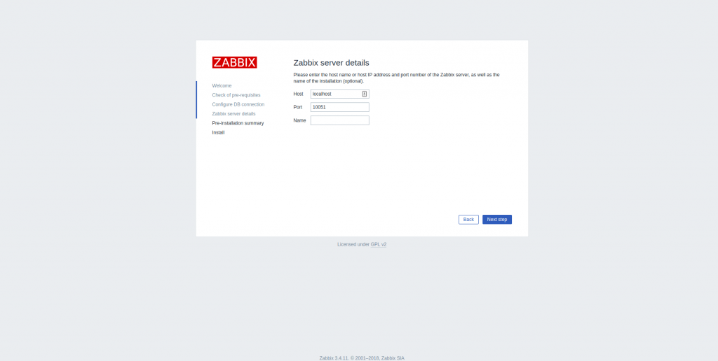Zabbix Settings
