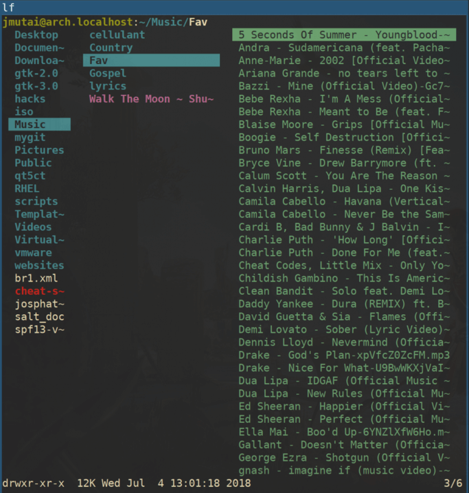 LF - Feature Rich Terminal Manager for Linux