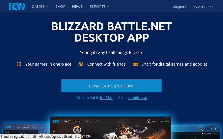 Installa Blizard battle.net