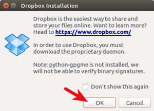 Dropbox-daemon-Installation