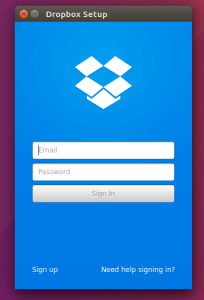 Ubuntu-dropbox-login