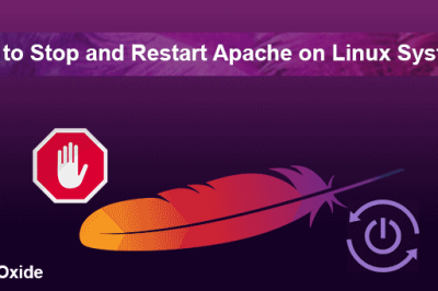 stop and restart apache linux