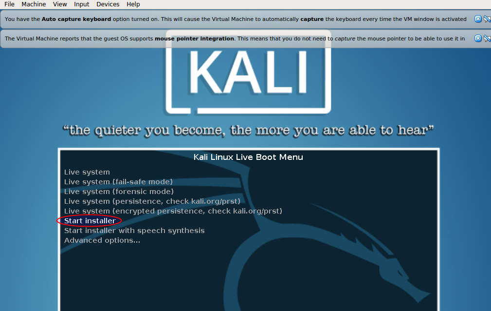 how to install kali linux on windows 10 virtual machine
