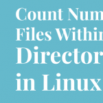 count number files directory linux