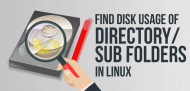 how to find disk usage of directories in linux