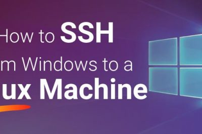 How to ssh from a windows machine to linux