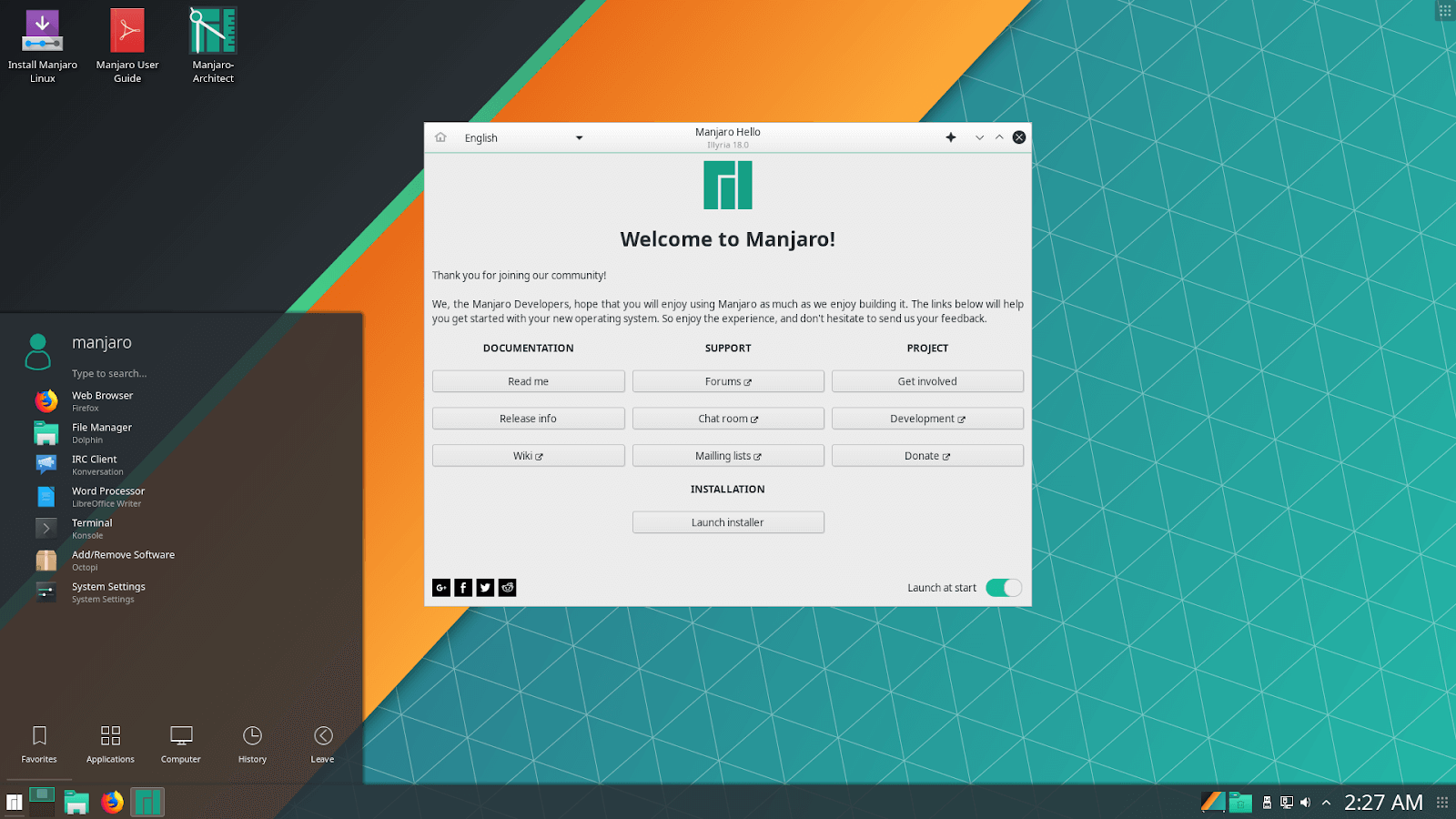 manjaro best linux distributions 2019