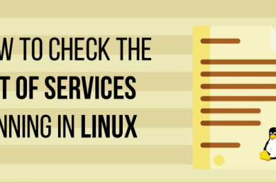 How to list all running services in linux