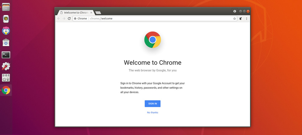 Best web browsers for Ubuntu Systems Google Chrome