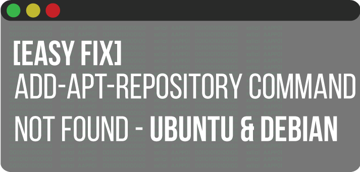 Easy fix add APT repository not found
