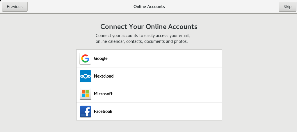 configure the online account if need