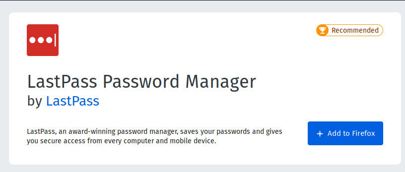 Last Pass password Manager
