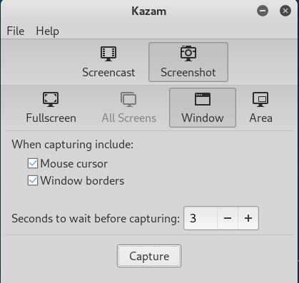kazam Best Apps for Linux
