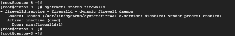 verify firewalld is disabled