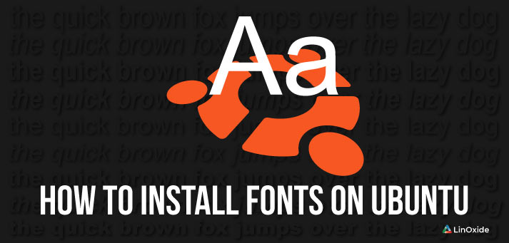 install fonts on ubuntu