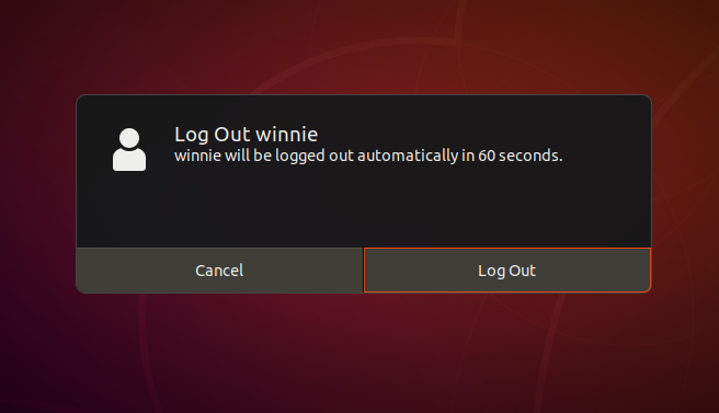 Log out shortcut