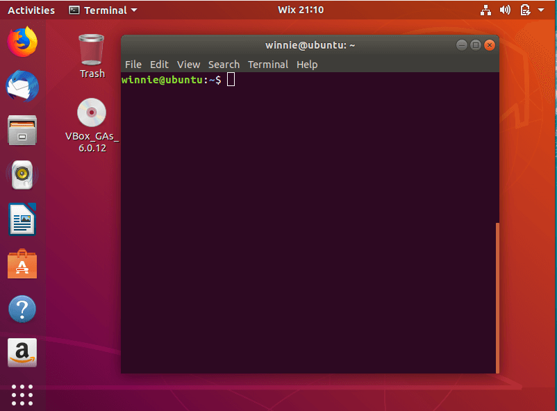 launch terminal in Ubuntu