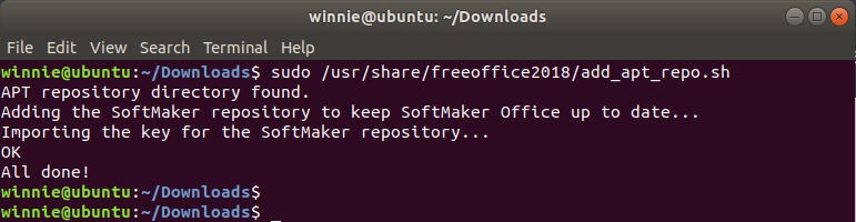 automatically update FreeOffice Ubuntu 18.04