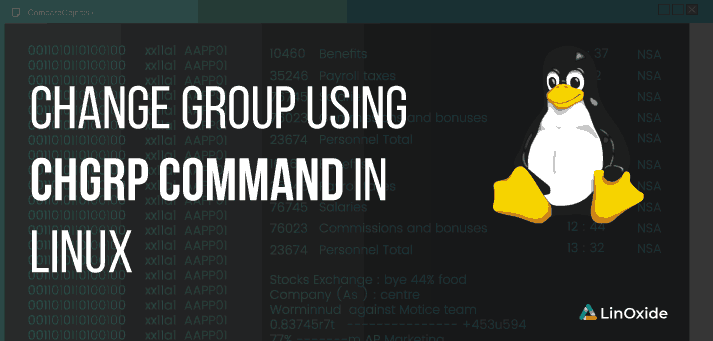 change group in linux