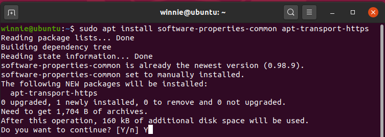 Install software properties common Ubuntu 20.04 LTS