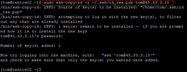 ssh-copy-id command