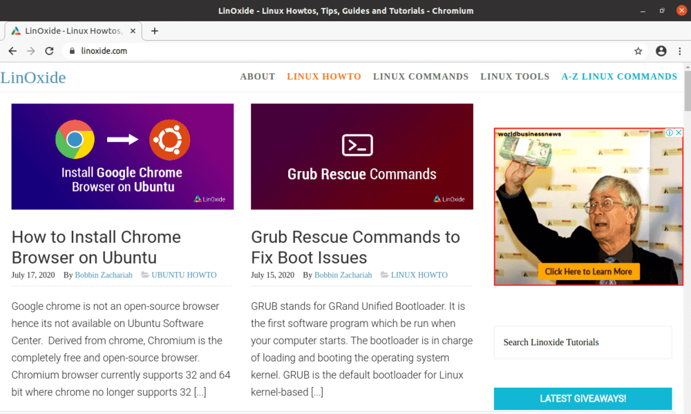 chromium browser on ubuntu