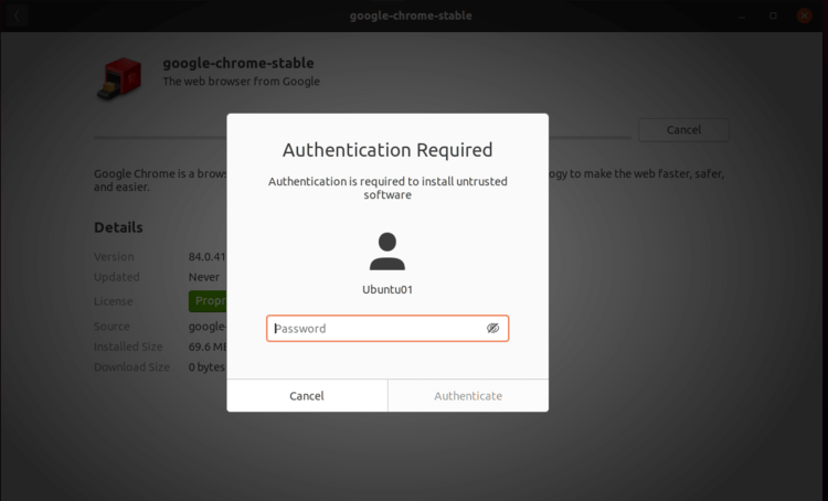 enter privilege user credentials to authenticate
