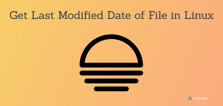 get last modified date of file