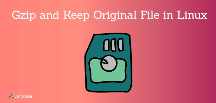 gzip and keep the original file in linux