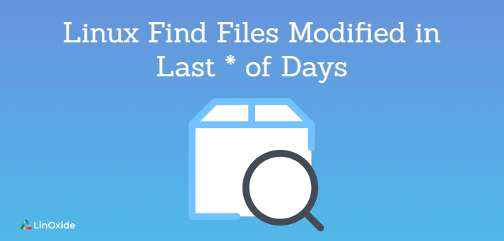 find files modified in last number of days
