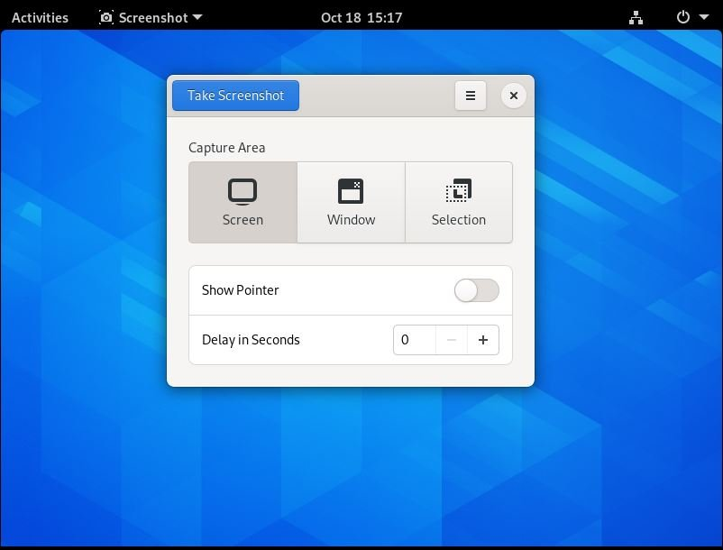 take screenshot default in arch linux