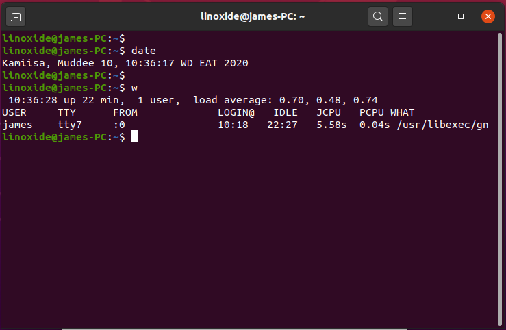 Gnome-terminal emulator in Linux