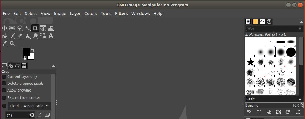 GIMP editor launched