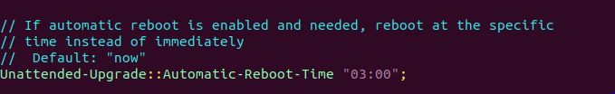 Set automatic reboot time
