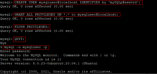 Create an alternate MySQL root user