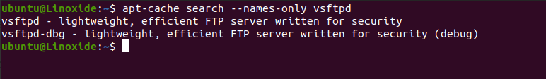 apt-cache get only name search from a package