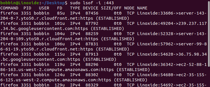 open file on a specific port